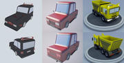 Cartoon car(1) 3d model