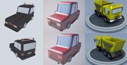 Cartoon car (1) 3d model