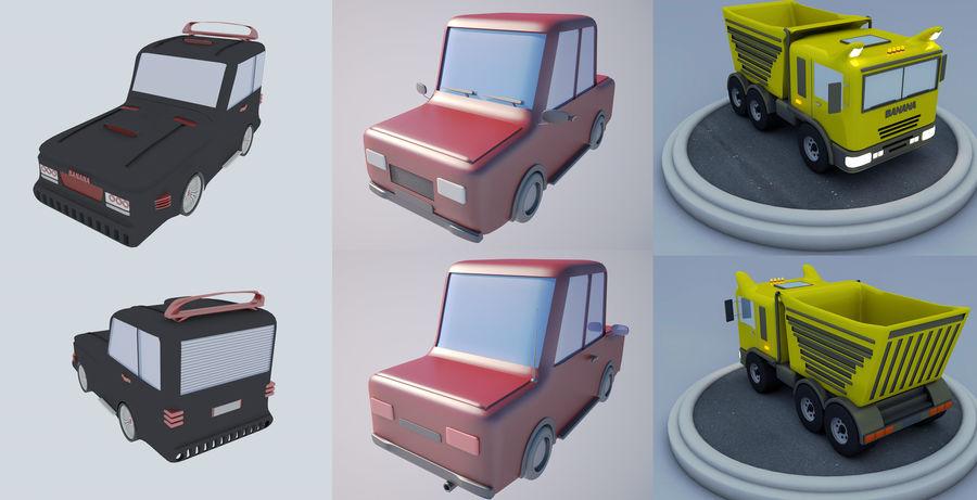 Cartoon car(1) royalty-free 3d model - Preview no. 1
