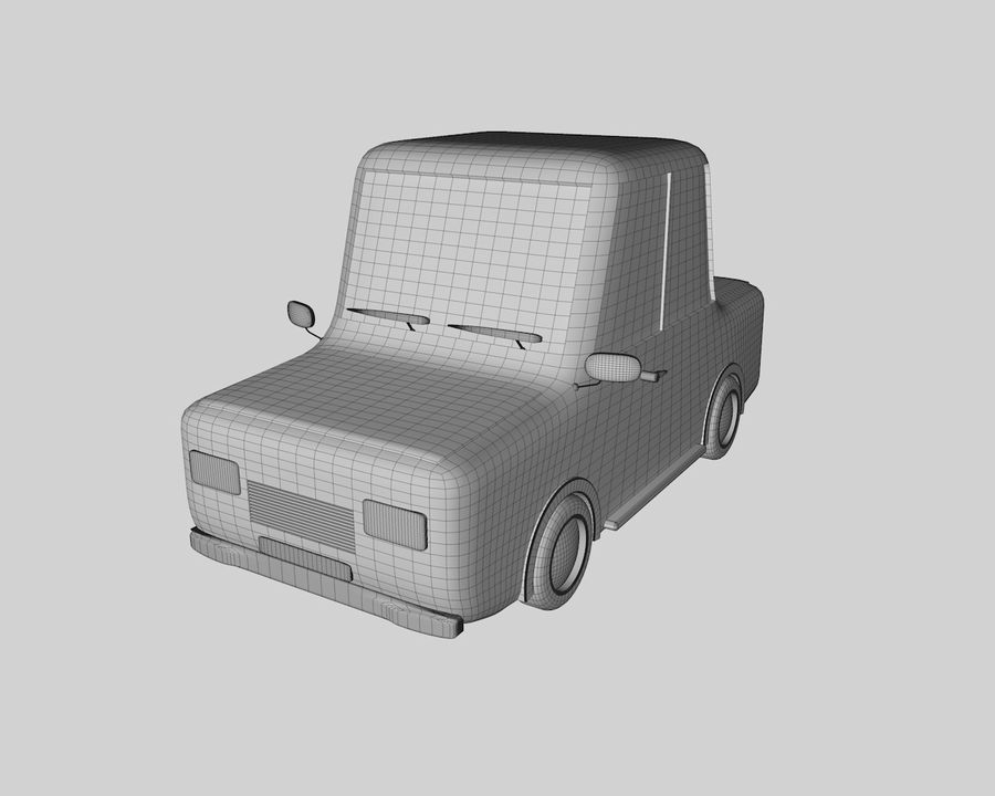 Cartoon car(1) royalty-free 3d model - Preview no. 4