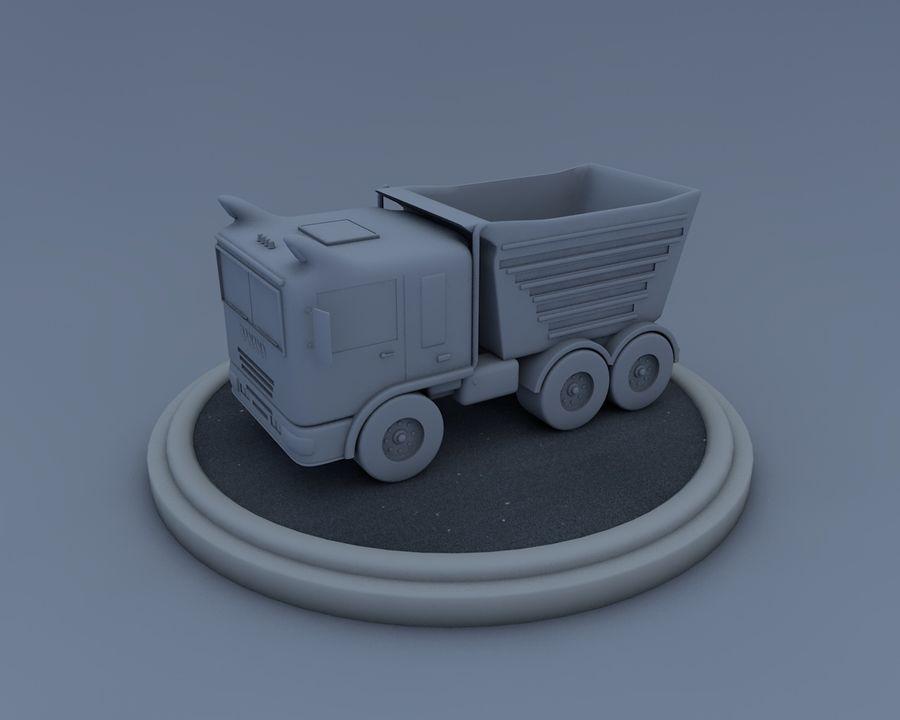 Cartoon car(1) royalty-free 3d model - Preview no. 13