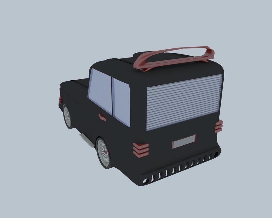 Cartoon car(1) royalty-free 3d model - Preview no. 9