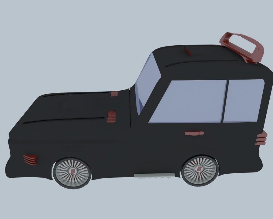 Cartoon car(1) royalty-free 3d model - Preview no. 7