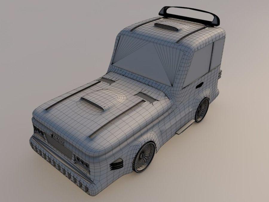 Cartoon car(1) royalty-free 3d model - Preview no. 8