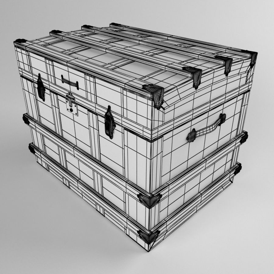 antique chest royalty-free 3d model - Preview no. 8