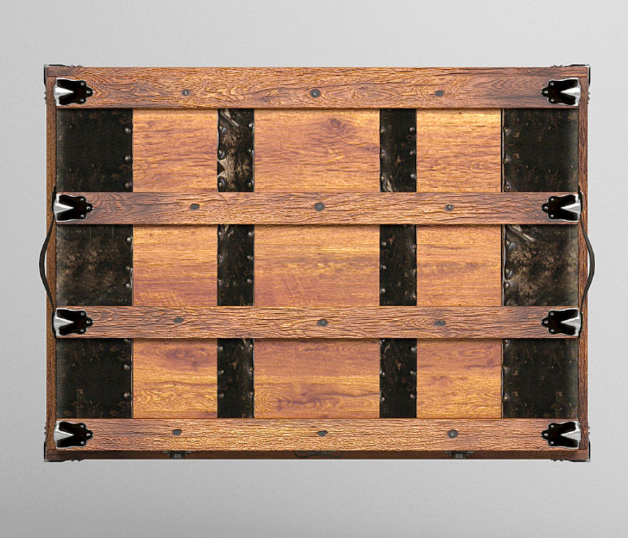 antique chest royalty-free 3d model - Preview no. 7