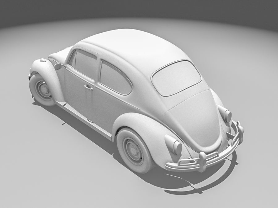 VW Beetle 1300 royalty-free 3d model - Preview no. 4
