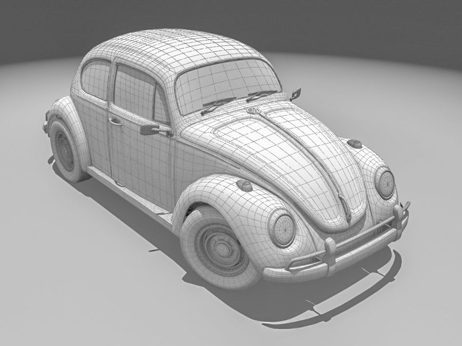 VW Coccinelle 1300 royalty-free 3d model - Preview no. 2