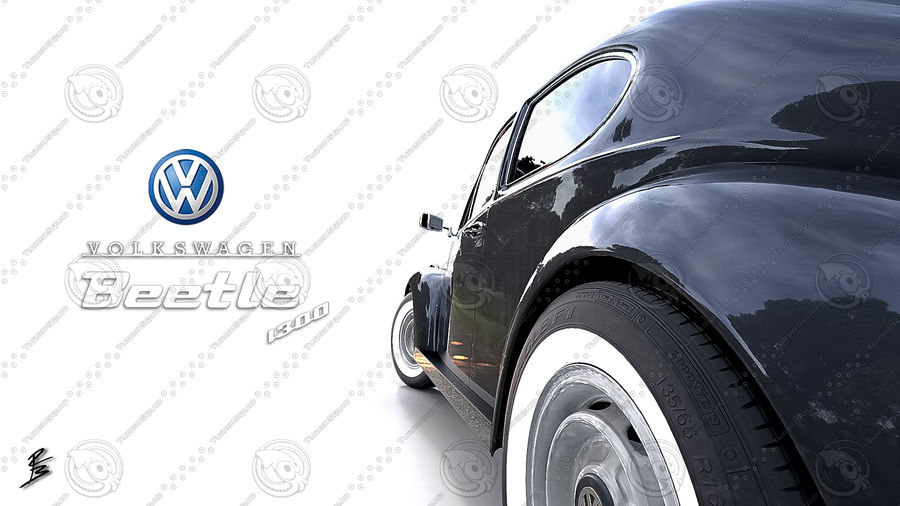 VW Coccinelle 1300 royalty-free 3d model - Preview no. 21