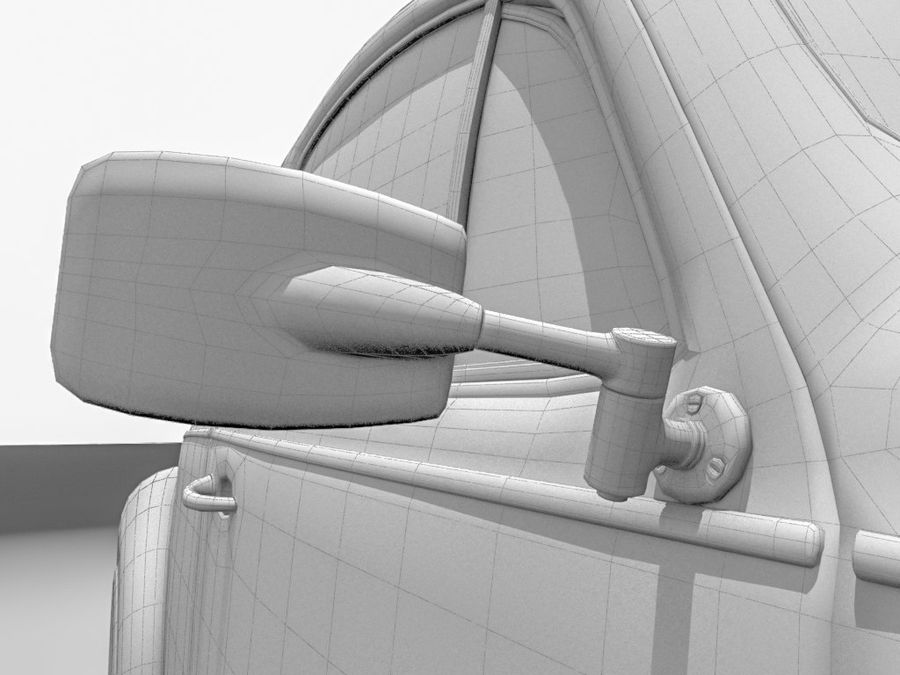 VW Coccinelle 1300 royalty-free 3d model - Preview no. 14