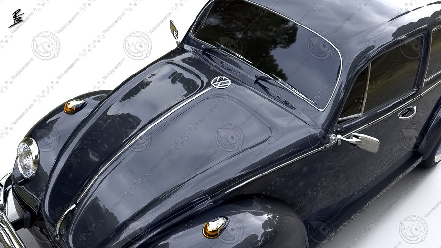 VW Coccinelle 1300 royalty-free 3d model - Preview no. 22