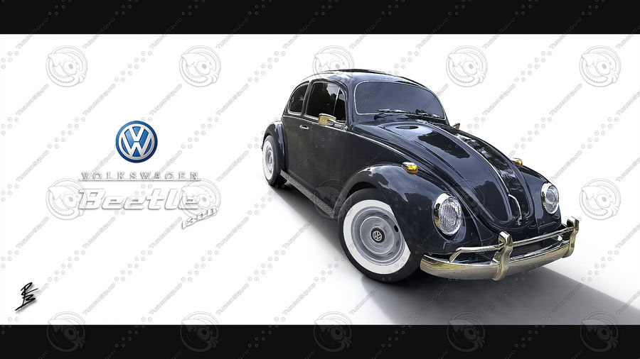 VW Coccinelle 1300 royalty-free 3d model - Preview no. 20