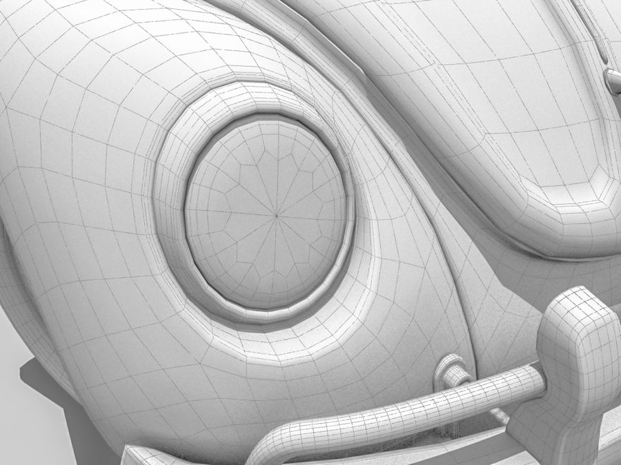 VW Beetle 1300 royalty-free 3d model - Preview no. 7