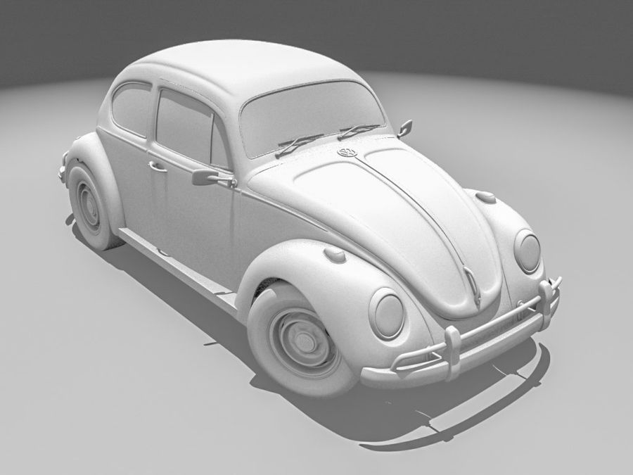 VW Coccinelle 1300 royalty-free 3d model - Preview no. 1