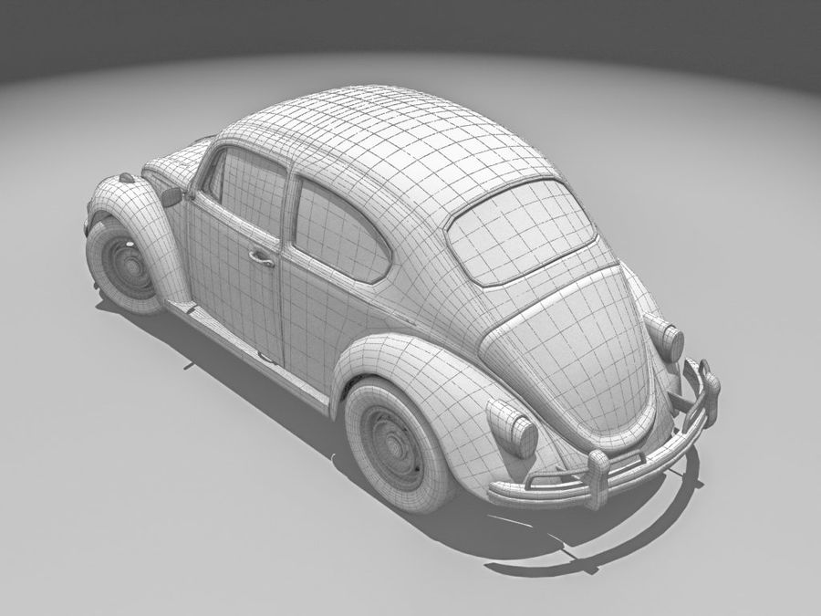 VW Beetle 1300 royalty-free 3d model - Preview no. 5