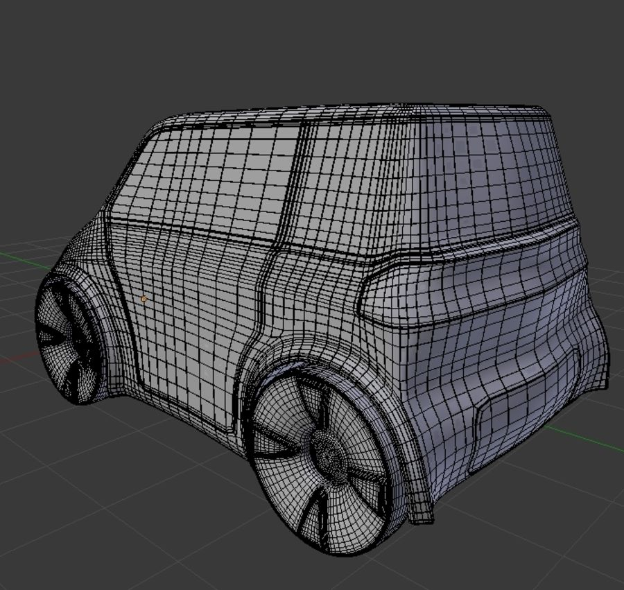 Compact electric concept car 9 v2 royalty-free 3d model - Preview no. 9