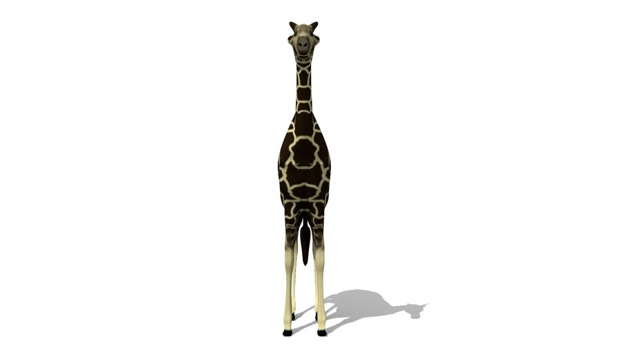 Giraffe Lowpoly royalty-free 3d model - Preview no. 2