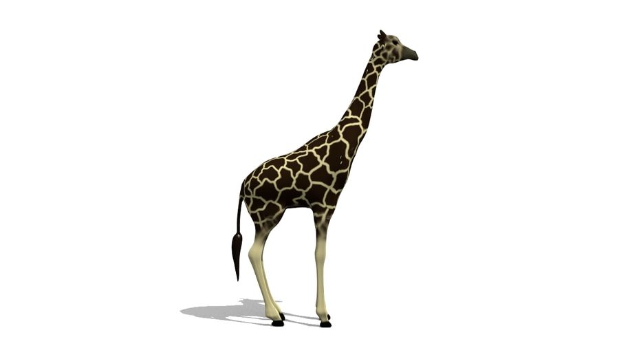Giraffe Lowpoly royalty-free 3d model - Preview no. 3