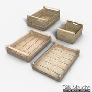 conjunto de caixas de frutas e vegetais 3d model