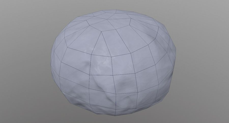 Low Poly Cabbage - Game Ready royalty-free 3d model - Preview no. 8
