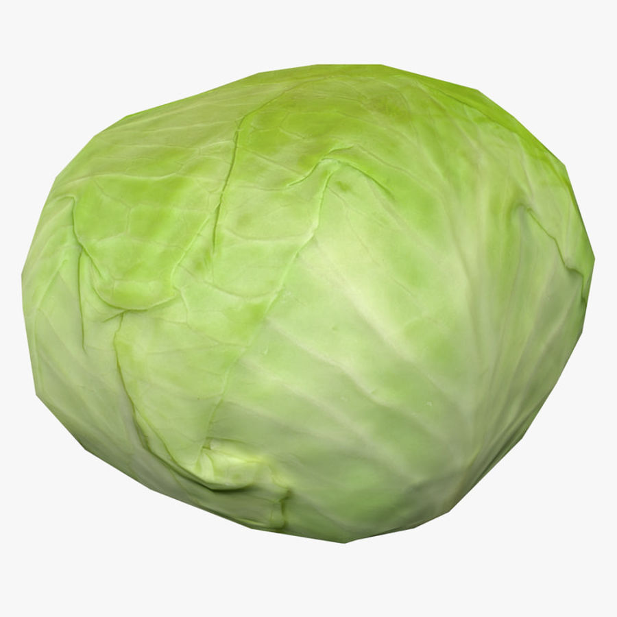 Low Poly Cabbage - Game Ready royalty-free 3d model - Preview no. 1