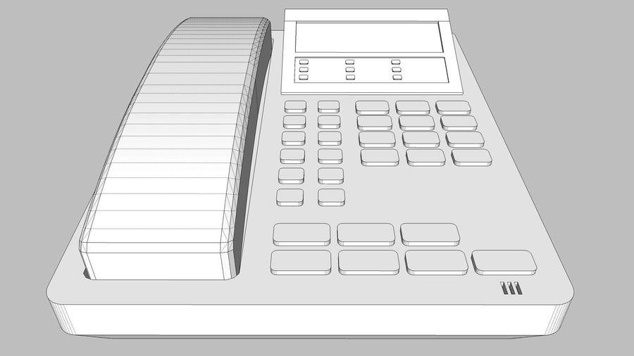 Phone: Office / Business Style royalty-free 3d model - Preview no. 14