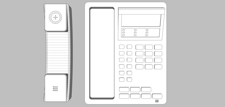 Phone: Office / Business Style royalty-free 3d model - Preview no. 15
