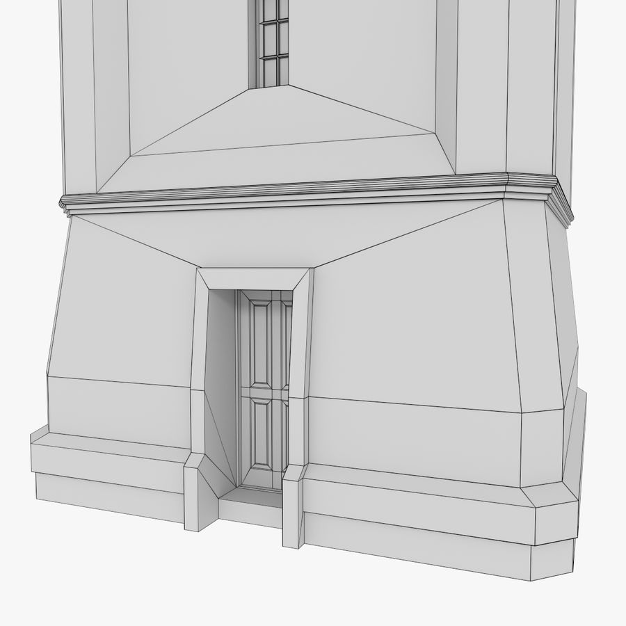 Clock tower three textured royalty-free 3d model - Preview no. 14