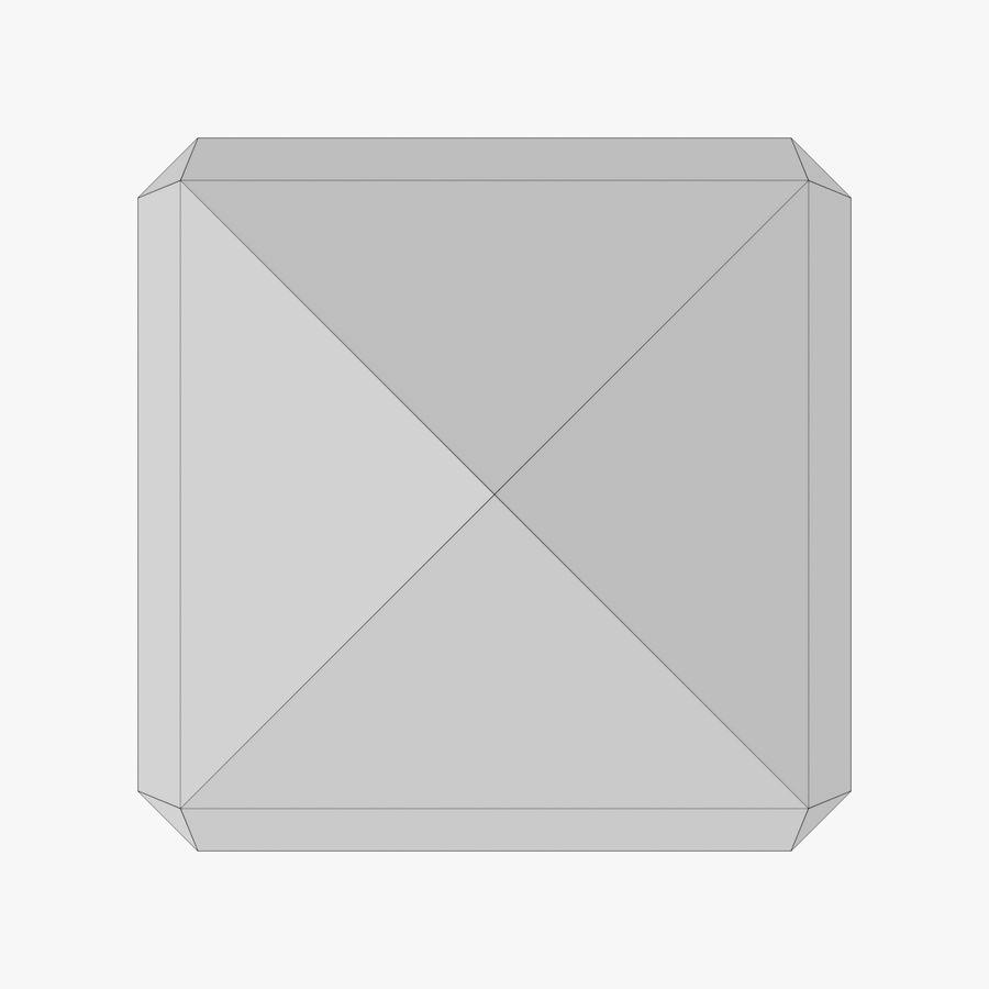 Torre del reloj de tres texturas royalty-free modelo 3d - Preview no. 16