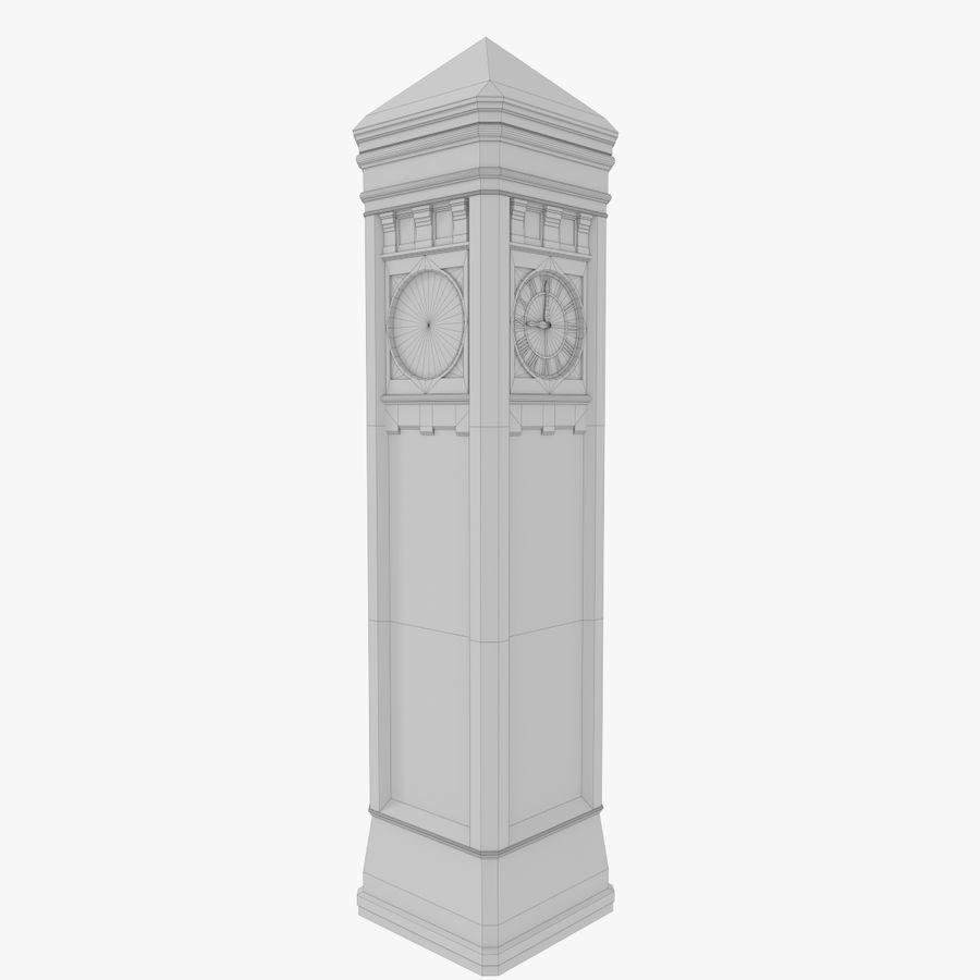Torre del reloj de tres texturas royalty-free modelo 3d - Preview no. 12