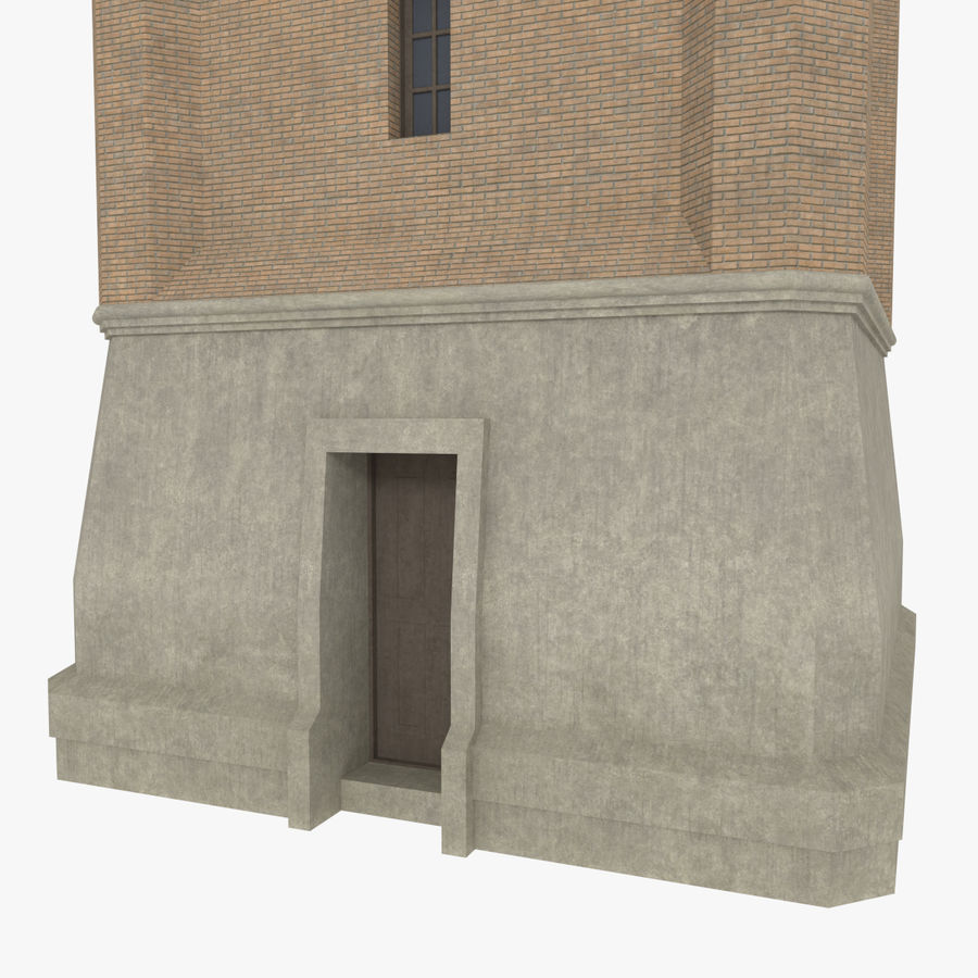 Clock tower three textured royalty-free 3d model - Preview no. 6