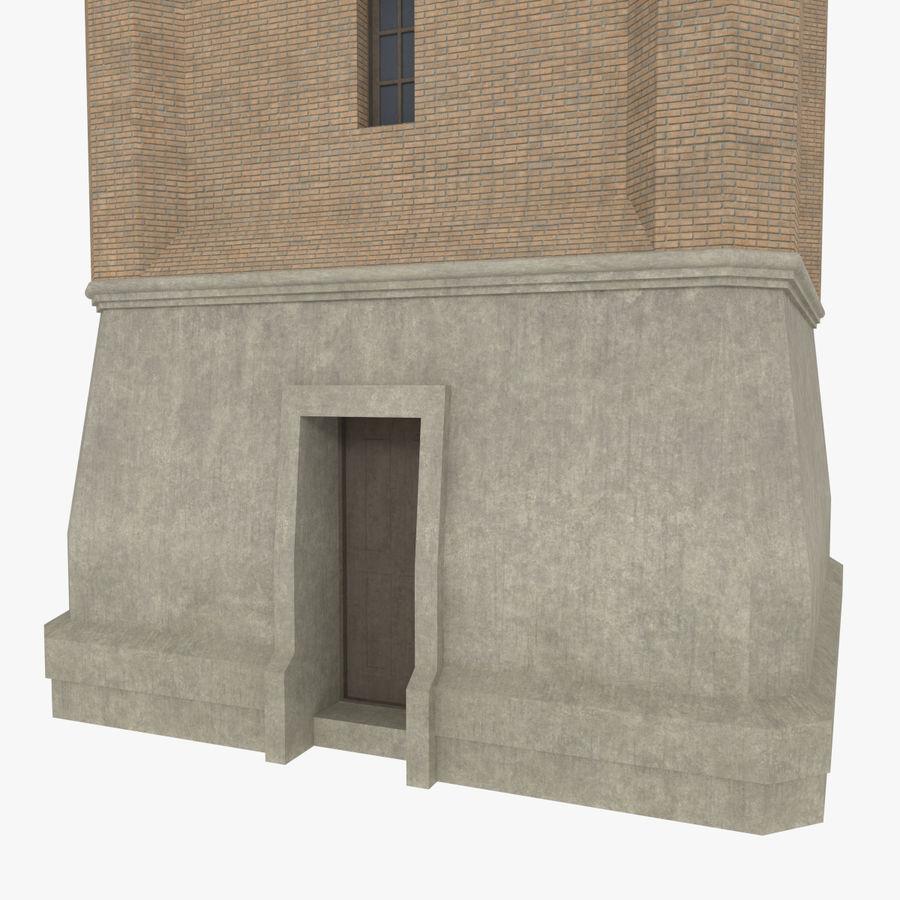 Torre del reloj de tres texturas royalty-free modelo 3d - Preview no. 6