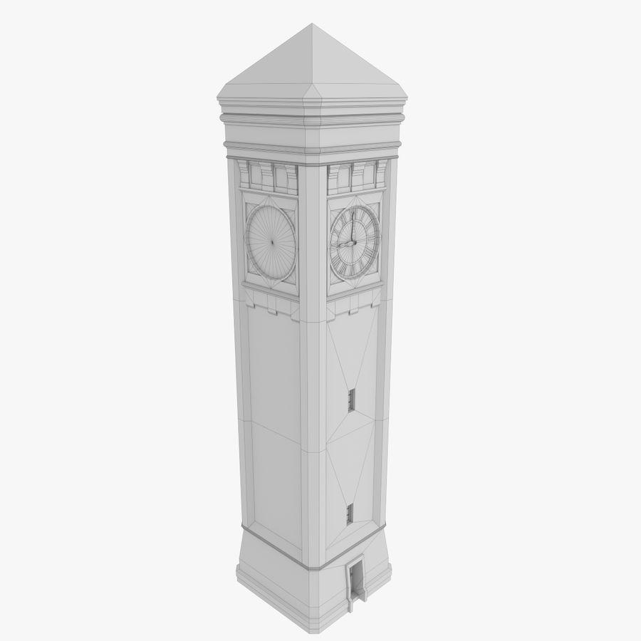 Torre del reloj de tres texturas royalty-free modelo 3d - Preview no. 10