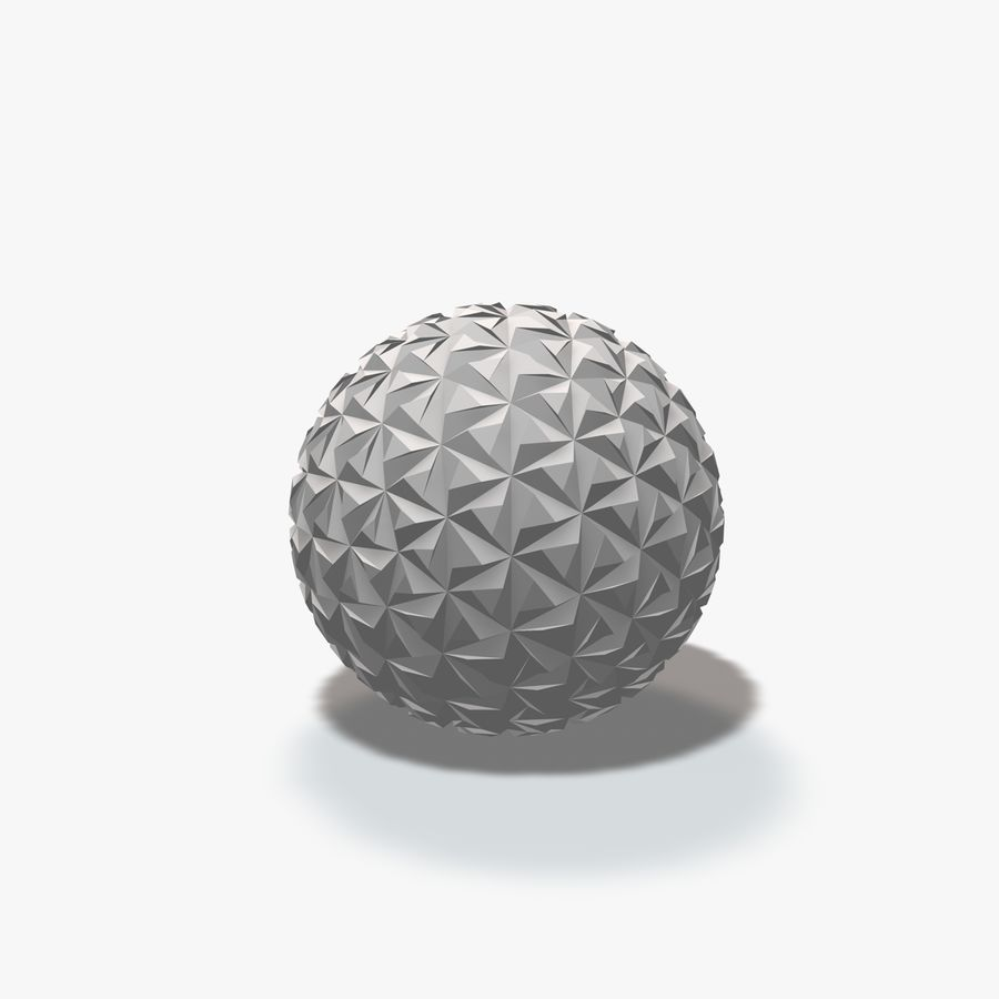 18 Geometric Spheres royalty-free 3d model - Preview no. 10