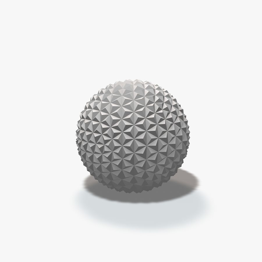 18 Geometric Spheres royalty-free 3d model - Preview no. 22