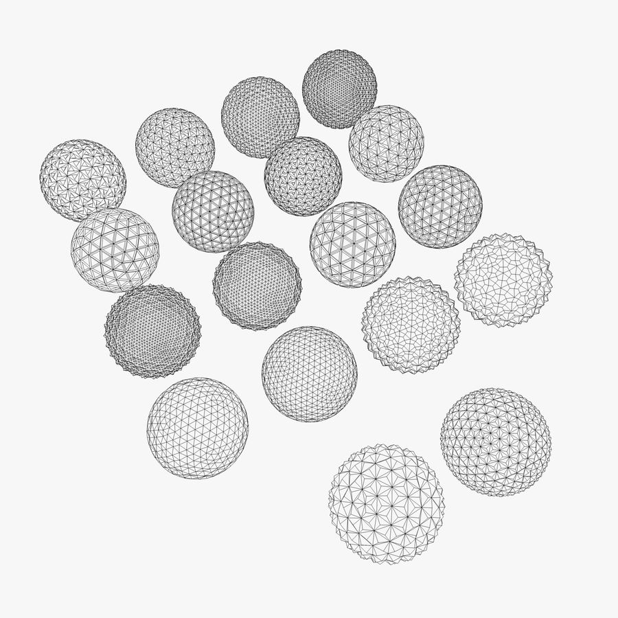 18 Geometric Spheres royalty-free 3d model - Preview no. 4