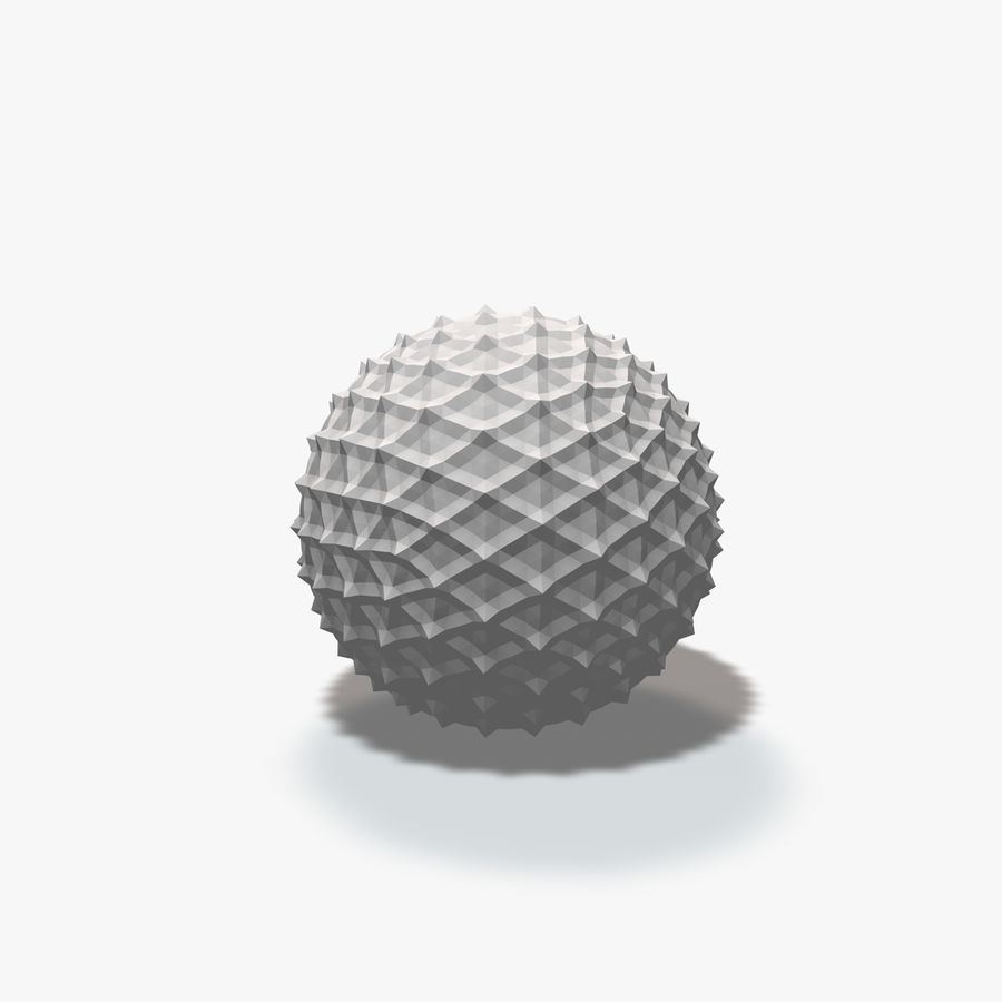 18 Geometric Spheres royalty-free 3d model - Preview no. 14