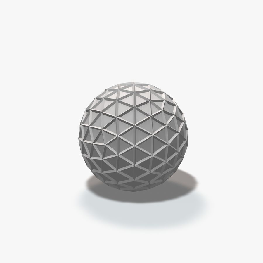 18 Geometric Spheres royalty-free 3d model - Preview no. 8