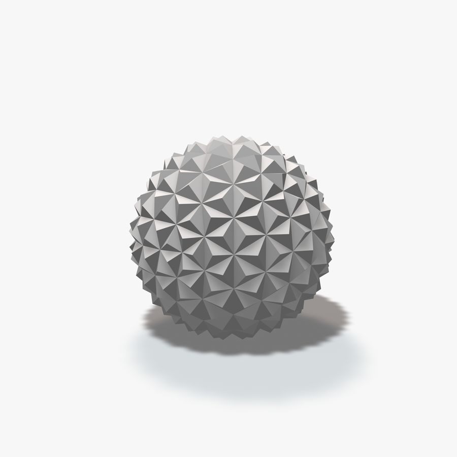 18 Geometric Spheres royalty-free 3d model - Preview no. 21