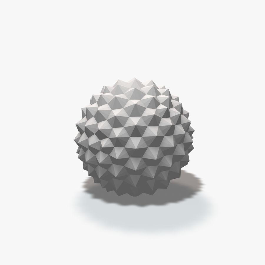 18 Geometric Spheres royalty-free 3d model - Preview no. 20