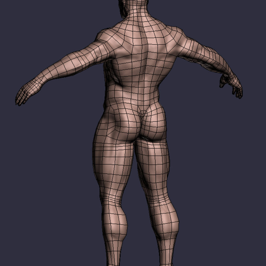 Male A-Posed Character royalty-free 3d model - Preview no. 7