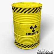 barile di rifiuti nucleari 3d model