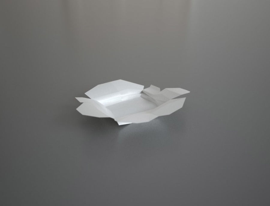 Chinese food box Oyster Pail royalty-free 3d model - Preview no. 3