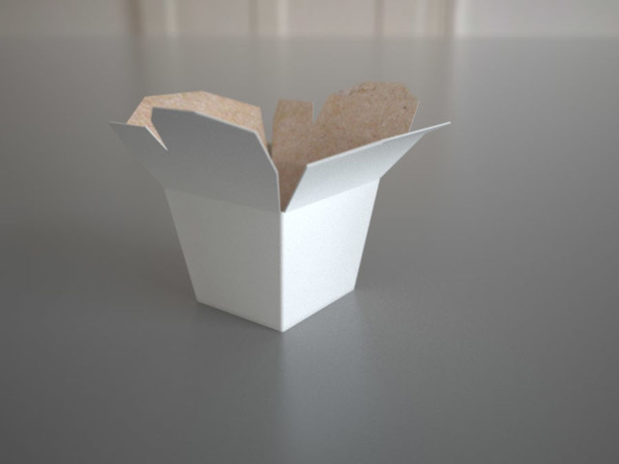 Chinese food box Oyster Pail royalty-free 3d model - Preview no. 5