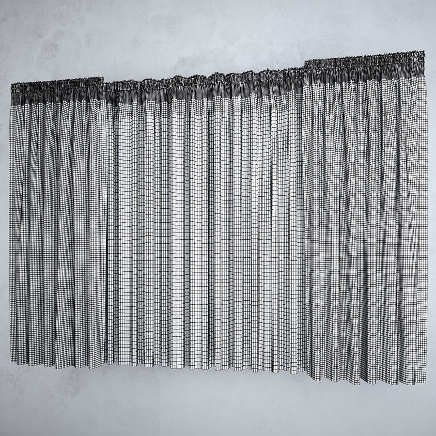 Curtains+tulle(blinds),,, royalty-free 3d model - Preview no. 2