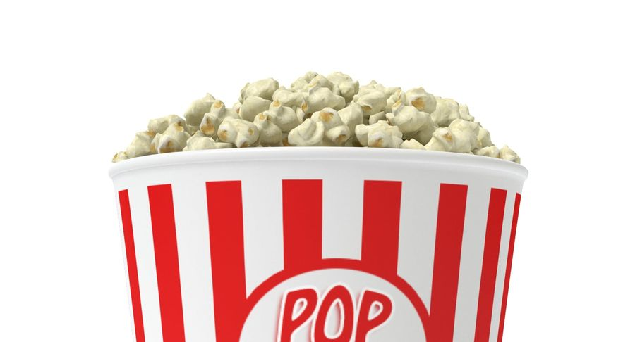 popcorn royalty-free 3d model - Preview no. 4