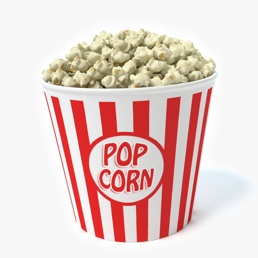 popcorn royalty-free 3d model - Preview no. 1