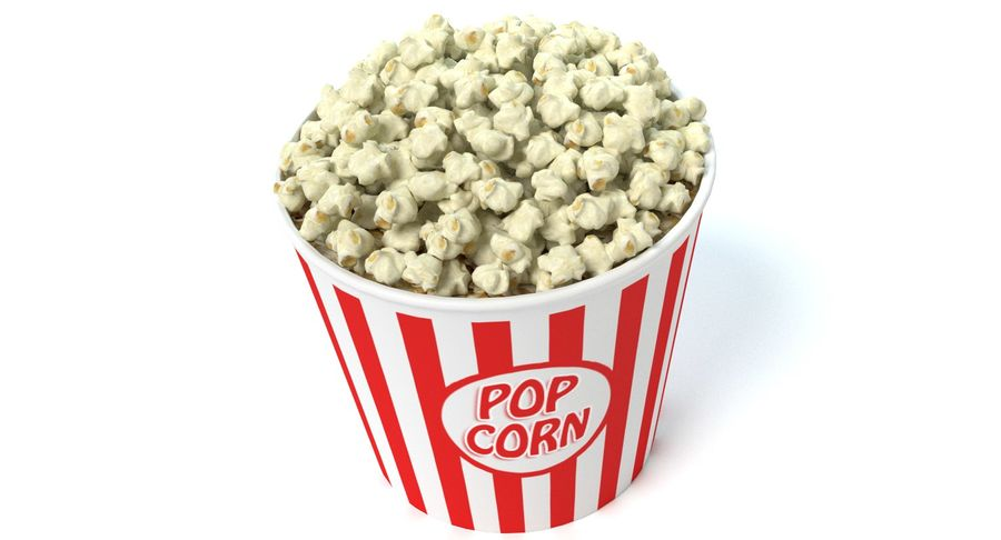 popcorn royalty-free 3d model - Preview no. 3