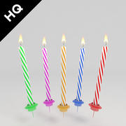 birthday candle 3d model