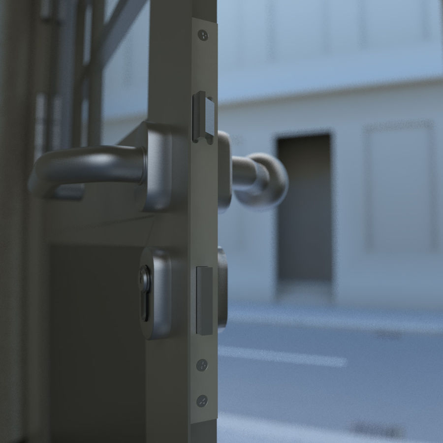 Door - Portal - Cityscape royalty-free 3d model - Preview no. 7
